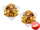 Original Star K™ 7mm Trillion Star Earrings with Simulated Imperial Yellow Topaz style: 309861