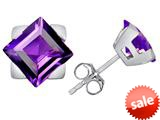 Original Star K™ 7mm Square Star Earrings with Simulated Amethyst style: 309864