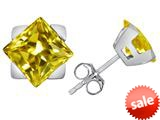 Original Star K™ 7mm Square Star Earrings with Simulated Citrine style: 309868