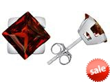 Original Star K™ 7mm Square Star Earrings with Simulated Garnet style: 309872