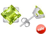 Original Star K™ 7mm Square Star Earrings with Simulated Apple Green Amethyst style: 309873