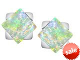 Original Star K™ 7mm Square Star Earrings with Created Opal style: 309875