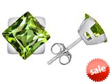 Original Star K™ 7mm Square Star Earrings with Simulated Peridot style: 309876