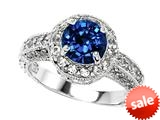 Original Star K™ 7mm Round Created Sapphire Ring style: 310795