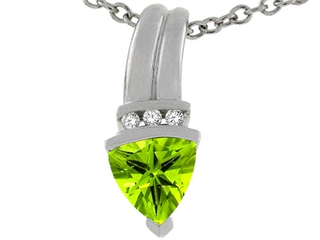 Genuine Round Brilliant Peridot Pendant peridot pendant