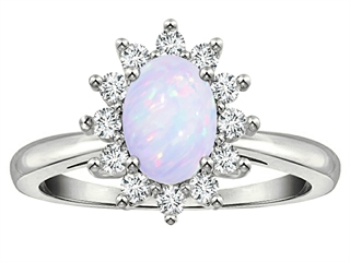 Tommaso Design(tm) Genuine Opal Ring