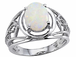 Genuine Large Oval Opal Ring.