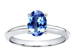 Genuine Tanzanite Solitaire Engagement Ring