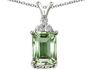 Original Star K(tm) Large 14x10mm Genuine Green Amethyst Pendant