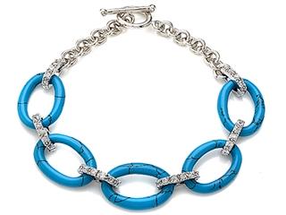 Simulated Turquoise Bracelet