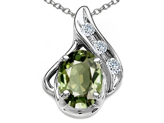Finejewelers era lease tommaso designtm oval 7x5mm genuine green sapphire and diamond pendant aloadofball Image collections
