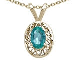 Tommaso Design™ Oval 6x4mm Genuine Emerald Pendant style: 21156