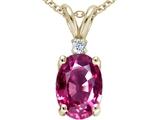 Tommaso Design™ Genuine Pink Tourmaline Pendant style: 21471