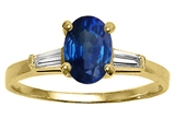 Tommaso Design™ Genuine Sapphire and Diamond Engagement Ring