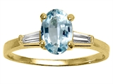 Tommaso Design™ Genuine Aquamarine and Diamond Engagement Ring style: 21614