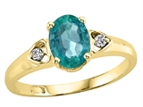 Tommaso Design™ Genuine Emerald and Diamond Ring style: 21674