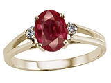 Tommaso Design™ Ruby and Diamond Ring