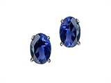 Tommaso Design™ Oval 6x4 mm Genuine Iolite Earrings style: 21763