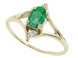 Tommaso Design™ Genuine Emerald Ring style: 21876