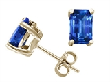 Tommaso Design™ Emerald Cut 6x4mm Genuine Sapphire Earrings style: 21965