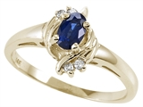 Tommaso Design™ Genuine Sapphire and Diamond Ring style: 22069