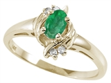 Tommaso Design™ Genuine Emerald and Diamond Ring style: 22070