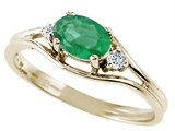 Tommaso Design™ Genuine Emerald and Diamond Ring style: 22074