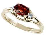 Tommaso Design™ Genuine Garnet and Diamond Ring style: 22080