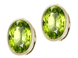 Tommaso Design 14k Genuine Oval Peridot Earring Studs
