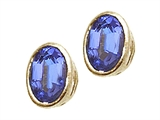 Tommaso Design™ Oval 7x5mm Genuine Tanzanite Earrings