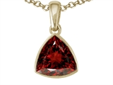 Tommaso Design Trillion Cut Genuine Garnet Pendant