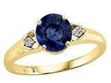 Tommaso Design™ Genuine Sapphire and Diamond Ring style: 22442