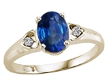 Tommaso Design™ Genuine Sapphire and Diamond Ring
