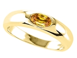 Tommaso Design™ Oval 6x4mm Genuine Citrine Ring