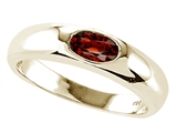 Tommaso Design™ Genuine Garnet Ring