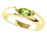 Tommaso Design™ Oval 6x4mm Genuine Peridot Ring