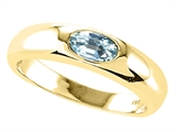 Tommaso Design™ Genuine Aquamarine Ring