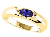 Tommaso Design™ Oval 6x4mm Genuine Iolite Ring