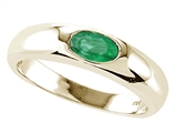 Tommaso Design Genuine Emerald Ring