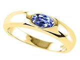 Tommaso Design™ Oval 6x4mm Genuine Tanzanite Ring