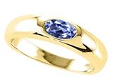 Tommaso Design™ Oval 6x4mm Genuine Tanzanite Ring style: 22551