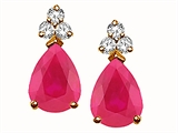 Tommaso Design™ Ruby and Diamond Earrings