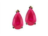 Tommaso Design™ Pear Shape Ruby Earrings