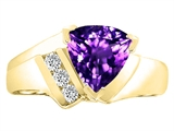 Tommaso Design™ Genuine Amethyst and Diamond Ring style: 22778