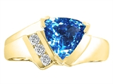 Tommaso Design™ Trillion 7mm Genuine Blue Topaz Ring style: 22780
