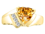 Tommaso Design™ Trillion 7mm Genuine Cittrine Ring style: 22781