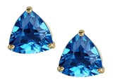 Tommaso Design™ Triangle Blue Topaz Earrings