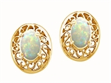 Tommaso Design™ Oval 5x3mm Genuine Opal Earrings style: 22894