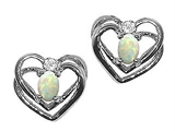 Tommaso Design™ Oval 5x3mm Genuine Opal Earrings style: 22902