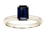 Tommaso Design™ 8x6mm Emerald Cut Genuine Sapphire Solitaire Engagement Ring style: 23089